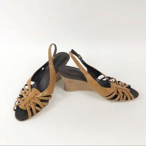 Timberland Light Brown Wedge Sandals